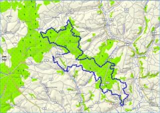"""Trace du parcours de 50km """" Loir et bercé """" 2012"""