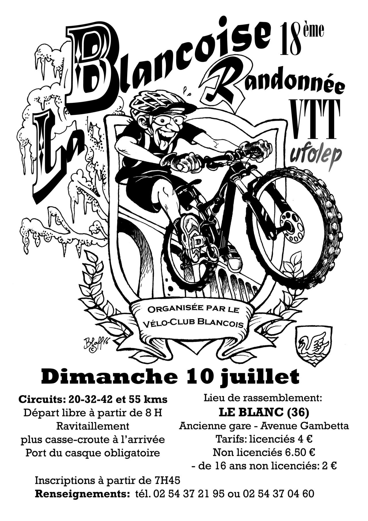 CR de la rando VTT «La Blançoise 2016», LeBlanc(36)