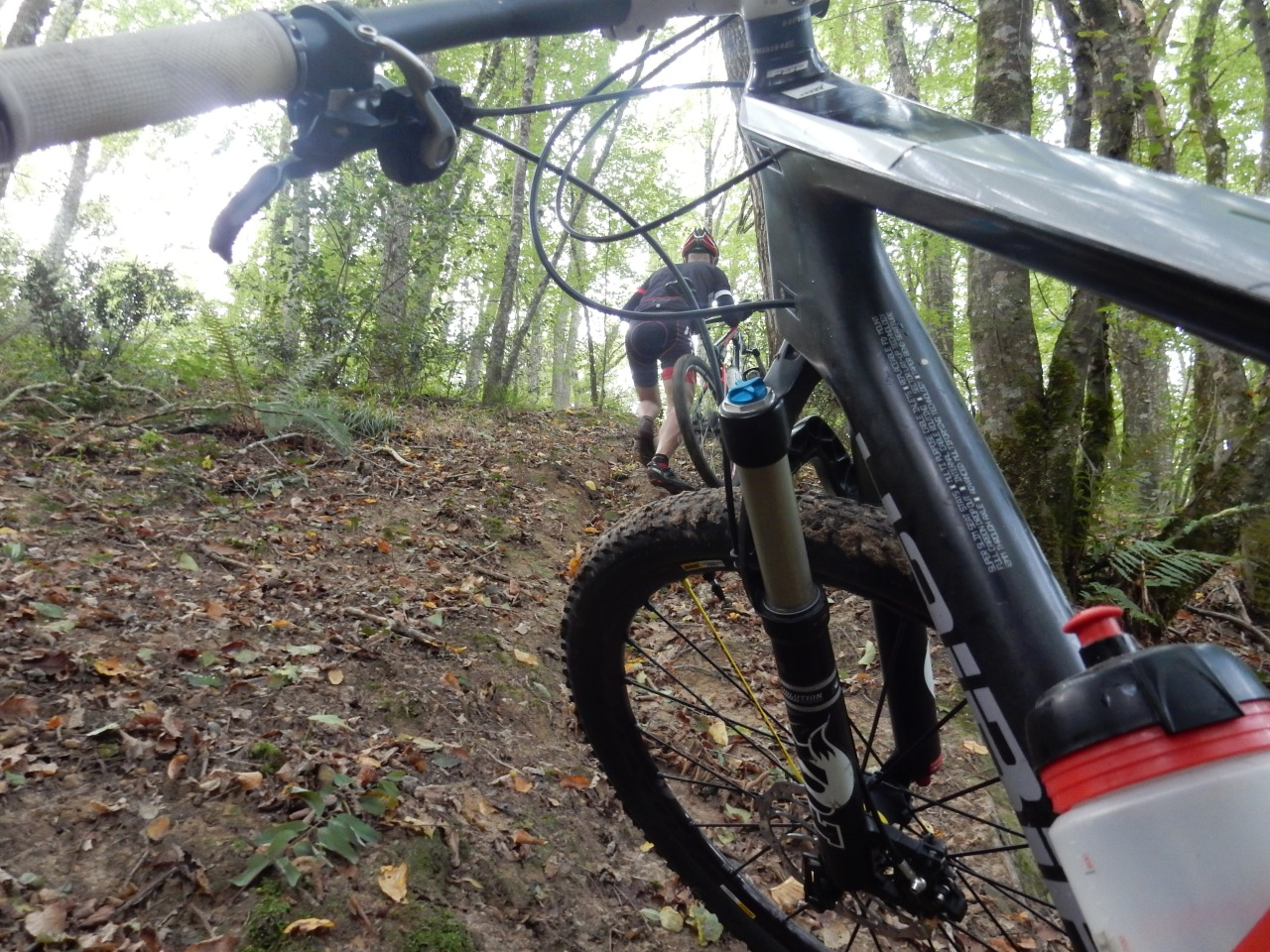 Sortie VTT typé enduro, challenges en vue. 15km de singles en forêt(37)