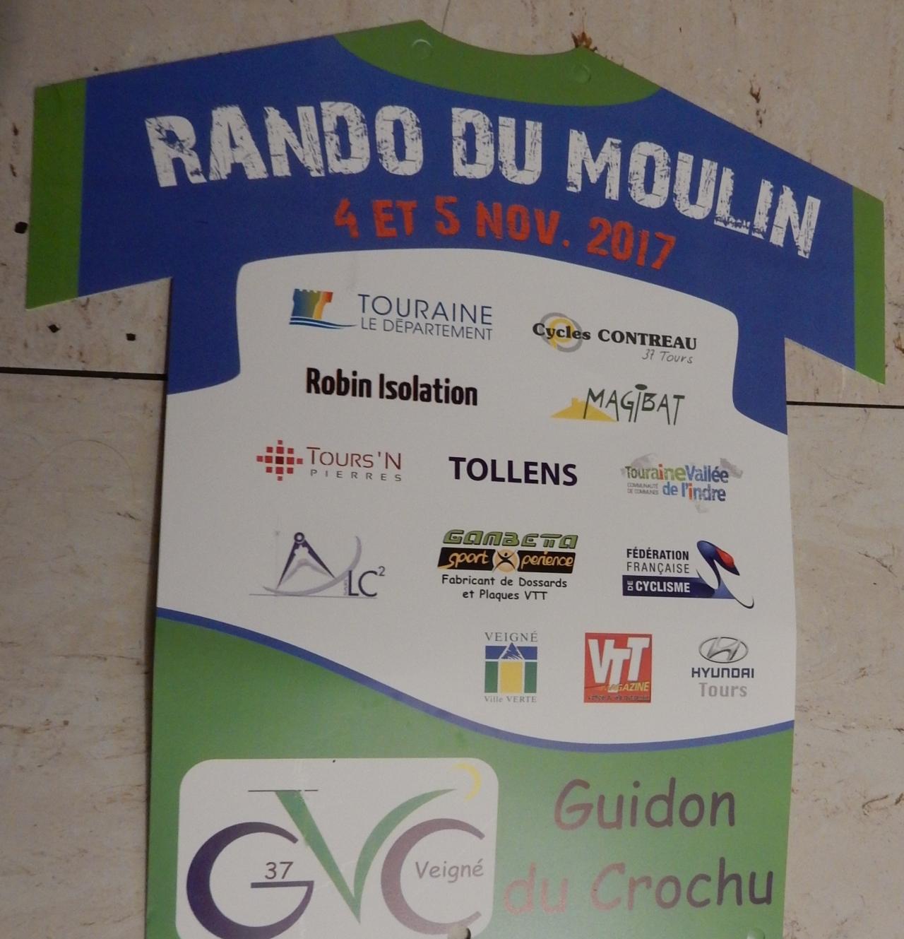 C.R. rando du moulin 2017 à Veigné (37), parcours60km.
