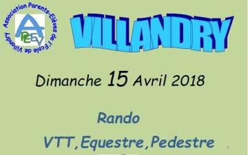 CR rando VTT de Villandry (37) du 15 avril2018.