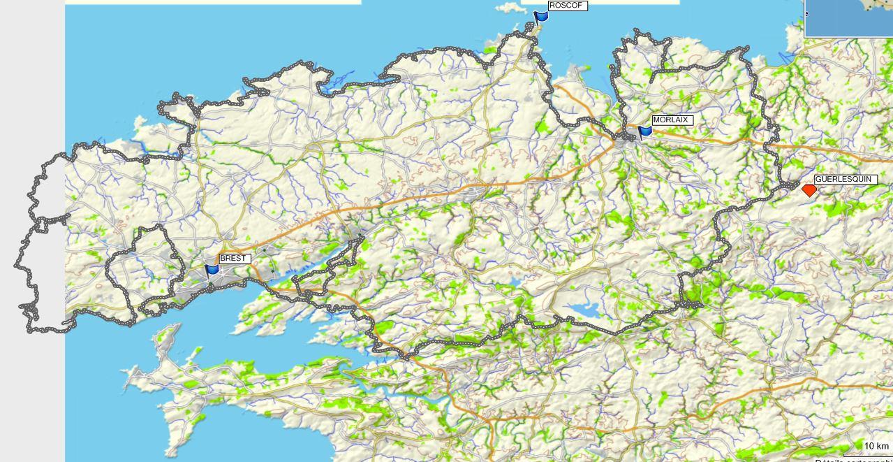 650km de VTT , plus de 8000m de dénivelé en Bretagne Nord entre le 26 et 02 juin 2018. Diaporama des bellesdécouvertes.
