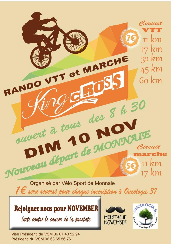 Quelques randos VTT Touraine pour novembre2019