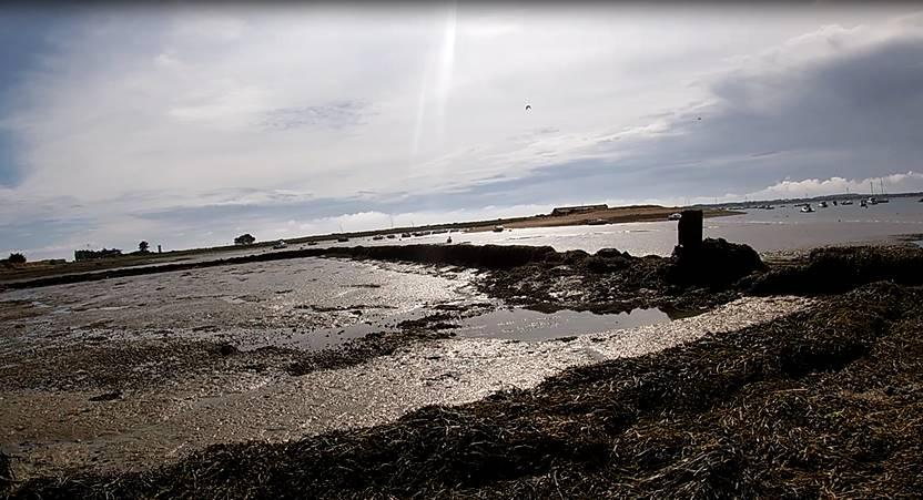 Vidéo Tour de Pénerf insolite en vtt. Marée basse sur la presqu'île