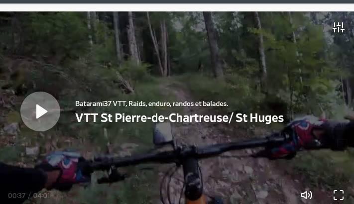 Boucle VTT St Pierre-de-Chartreuse/ St Pierre-d'Entremont etretour.